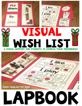 The Visual Wish List Lapbook: Christmas List for Visual Learners