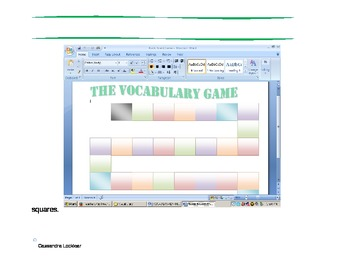 The Vocabulary Board Game