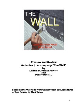 The Wall: Previews and Reviews--Activities for the one-act