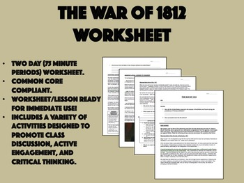 The War of 1812 - US History/APUSH Common Core