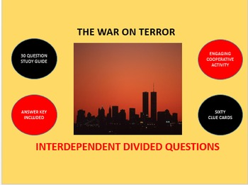 The War on Terror: Interdependent Divided Questions Activity