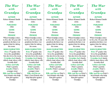 """The War with Grandpa edition of Bookmarks Plus: Great """"Gif"""