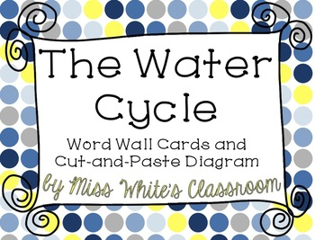 The Water Cycle - A Cut-and-Paste Diagram and Word Wall Ca