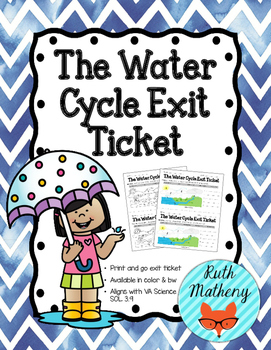 The Water Cycle Exit Ticket - VA Science SOL 3.9