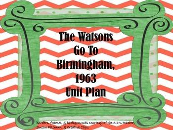 The Watsons Go To Birmingham, 1963 Unit Bundle
