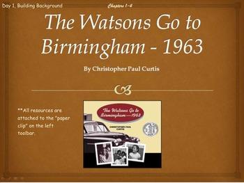 The Watsons Go to Birmingham-1963 Novel Unit Chapters 1-4