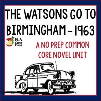 The Watsons Go to Birmingham Novel Unit ~ Activities, Hand