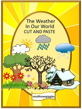 weather cut and paste worksheets