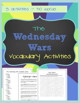 The Wednesday Wars - Vocabulary Activities