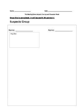 The Westing Game Character Graphic Organizer