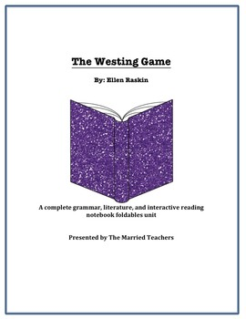 The Westing Game Complete Literature, Grammar, & Interacti