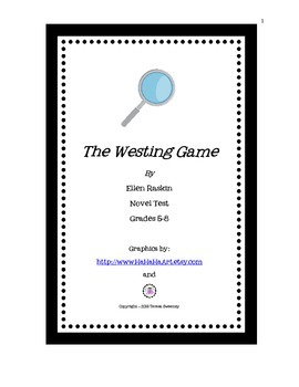The Westing Game Novel Test