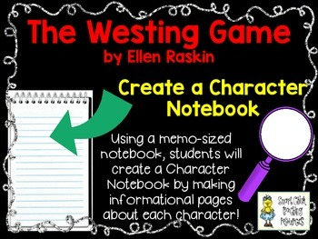 The Westing Game, by E. Raskin, Create a Character Noteboo