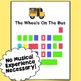 The Wheels On The Bus, Color-Coded Piano Song Sheet ~ Play