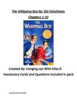 The Whipping Boy Chapters 1-10