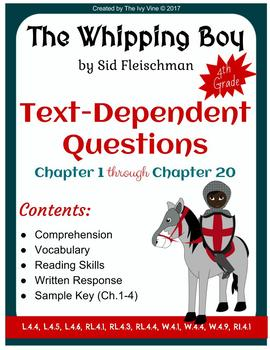 The Whipping Boy - Comprehension - Text-Dependent Question