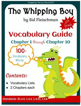 The Whipping Boy - Vocabulary Guide - Chapters 1 and 10 (Grade 4)