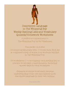 3rd/4th/5th ELA The Whipping Boy by Sid Fleishman Spelling