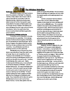 Info Text-The Whiskey Rebllion: The New US Republic and Co