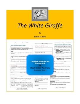 The White Giraffe Novel Unit
