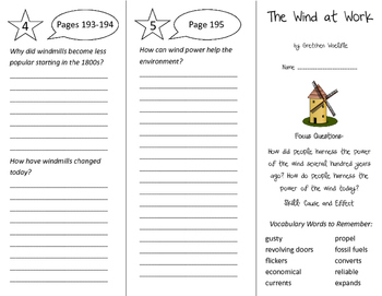 The Wind at Work Trifold - Imagine It 5th Grade Unit 2 Week 4