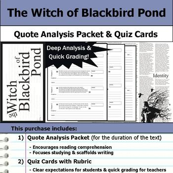 The Witch of Blackbird Pond - Quote Analysis & Reading Quizzes