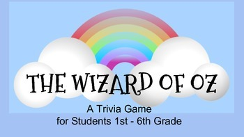 The Wizard of Oz (Movie/Film) Team Trivia Game / Review Activity