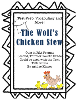 The Wolf's Chicken Stew - Vocabulary, Comprehension, Text Prep