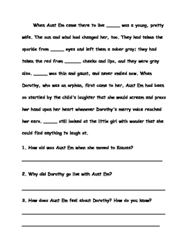 The Wonderful Wizard of Oz - Pronouns & Comprehension