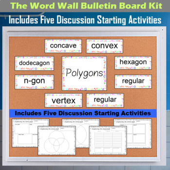 The Word Wall Bulletin Board Kit - Polygons