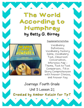 The World According to Humphrey Activities 4th Grade Journ