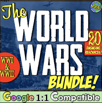 World Wars Bundle!  9 fun activities for World War I & Wor