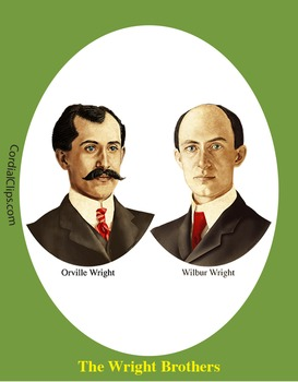 The Wright Brothers Bundle Realistic Clip Art, Coloring Pa