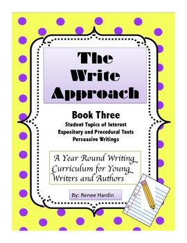 Writing: The Write Approach: (Book 3) Persuasive Writings