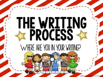 The Writing Process {Clip Chart} -Hollywood Themed