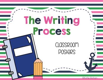 The Writing Process Clip Chart- Nautical
