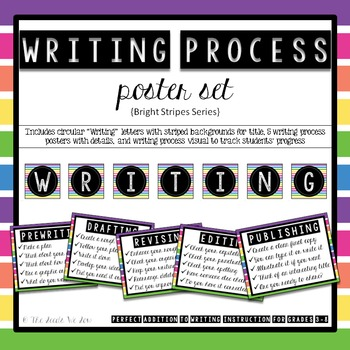 Writing Process Posters {Bright Stripes}