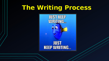 The Writing Process and Plot Structure Diagram
