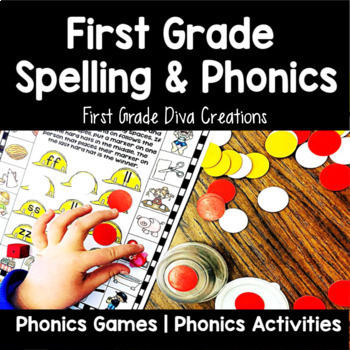 First Grade Spelling~The Year Long Bundle~Printables & Activities