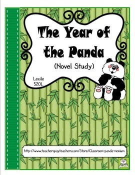 The Year of the Panda Novel Study and FREE Task Cards (CC