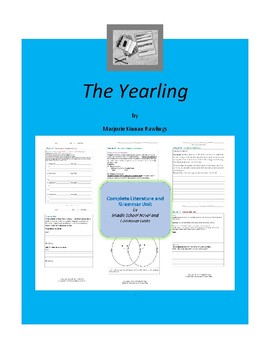 The Yearling Complete Literature and Grammar Unit