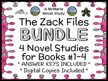 The Zack Files BUNDLE (Dan Greenburg) 4 Novel Studies : Bo