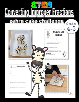 The Zebra Cake Challenge- Converting Improper Fractions to
