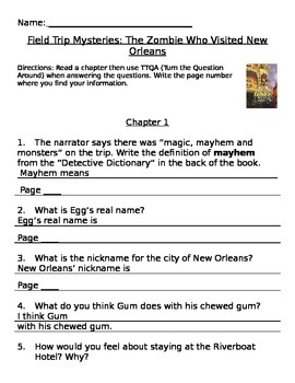 The Zombie Who Visited New Orleans: Field Trip Mystery Com