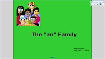 """Word Families:  The """"an"""" Family"""
