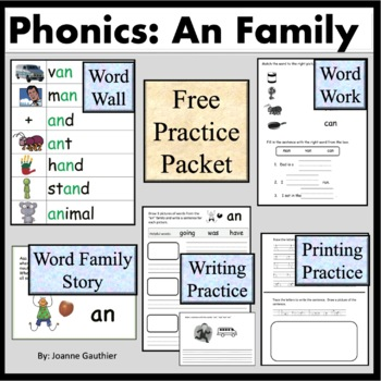 The an Word Family: Phonics and Writing Fundamentals