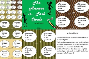 The answer is task cards (critical thinking skills)