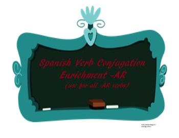 The best, simple, color coded Spanish Conjugation Enrichme