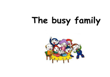The busy family