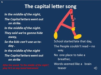 The capital letters song with easy instrument work